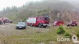 Tragiczny wypadek w Sudetach. Spadł z autem w przepaść