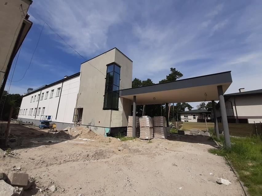 Trwa budowa pawilonu zabiegowego Samodzielnego Publicznego...
