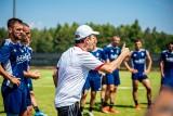 Tak piłkarze ŁKS trenują w Woli Chorzelowskiej ZDJĘCIA