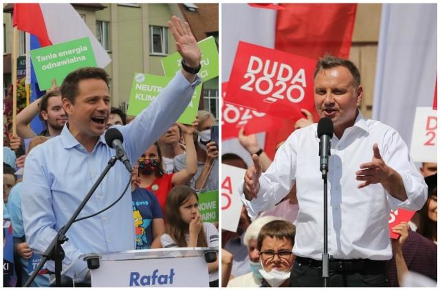 W sondażowym badaniu exit poll po drugiej turze wyborów prezydenckich Andrzej Duda prowadzi z Rafałem Trzaskowskim o zaledwie 0,8 pp.