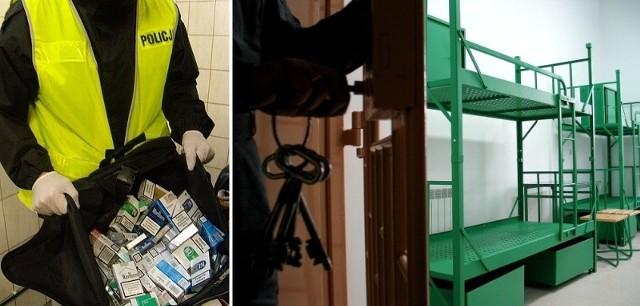 32-latek nie wrócił z przepustki do więzienia. W  samochodzie, którym jechał policjanci znaleźli rzeczy pochodzące z kradzieży, m.in. papierosy.