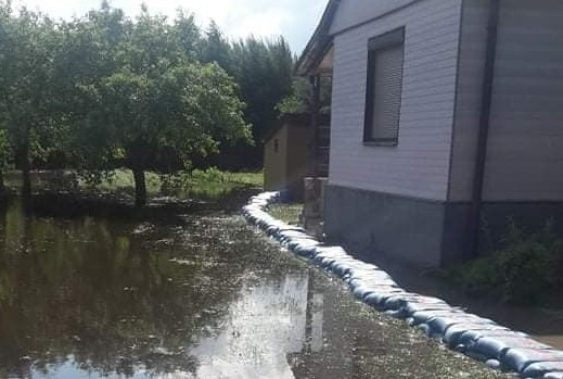 Jabłonica wylała w czerwcu także na terenie gminy Borkowice.
