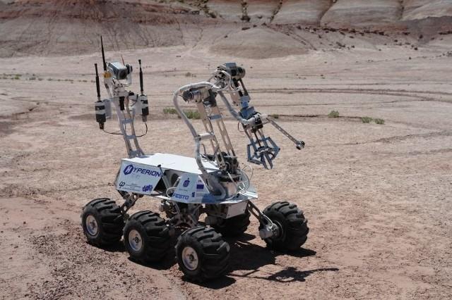 Tak Hyperion 2 prezentuje się na pustyni Utah, która symuluje powierzchnię Marsa