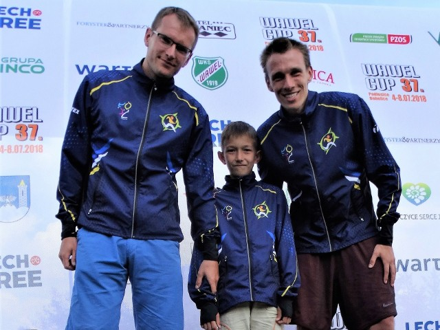 Nasi zwycięzcy z UKS Orientuś Łódź: Piotr Chmielecki, Tomasz Rzeńca i Rafał Podziński