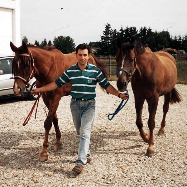 Ich pasją były konie. Na zdjęciu Bogdan Kenar.