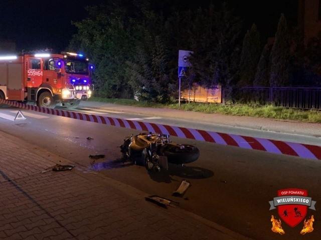 19-letni motocyklista trafił do szpitala po zderzeniu z autem
