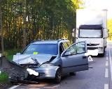 Wypadek na drodze krajowej w Podlaskiem. Jedna osoba trafiła do szpitala