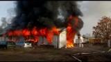 Wielki pożar hali w Nowej Soli. Wszystko spłonęło [ZDJĘCIA]