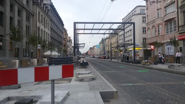 Budowa wiata na rynku w Katowicach