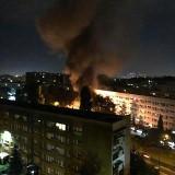 Kraków. Ogień i kłęby dymu między blokami, w środku nocy! Co się stało?!