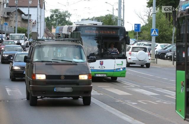 Na części Arkońskiej buspas już działa od dawna, a teraz będzie na najnowszym odcinku ulicy, między stadionem Arkonii a rondem Olszewskiego