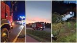 Powiat lubelski: Groźny wypadek na DW nr 747. W Matczynie auto przebiło się przez ogrodzenie i dachowało. Zdjęcia