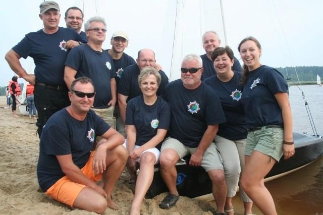 Członkowie stowarzyszenia Jacht Klub Nisko.