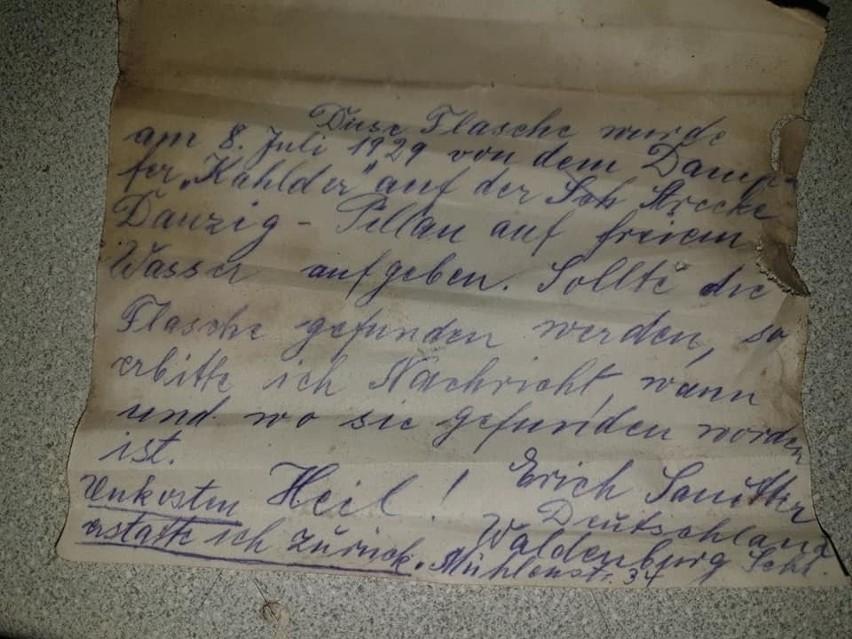 "List w butelce autorstwa Ericha Sanittera ""szukał"" adresata..."