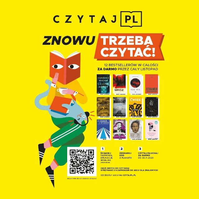 Na stronie czytaj.pl znajduje się kod QR, który umożliwia dostęp do książek