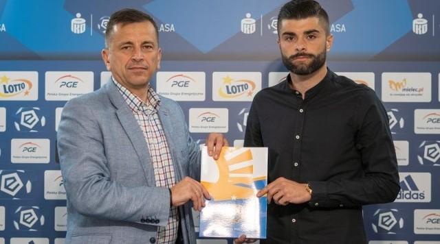 Prezes Jacek Klimek i Damian Primel