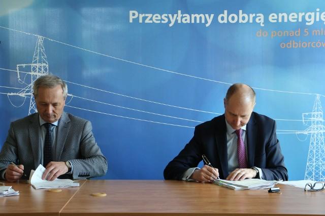 Nowym prezesem PGE Dystrybucja został Andrzej Bondyra (pierwszy z prawej)