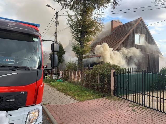 Pożar domu przy ul. Wiosny Ludów