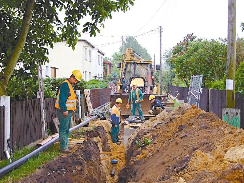 Budowa kanalizacji w Olszowej już ruszyła. (fot. Radosław Dimitrow)