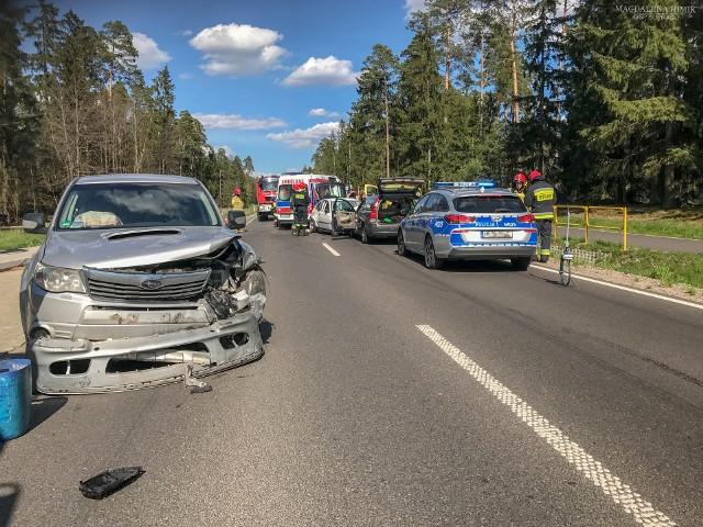 Pólko. Wypadek na drodze Białystok - Supraśl. Zderzyły się cztery auta