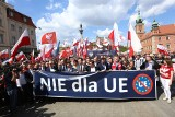 Marsz Suwerenności 2019 Warszawa [ZDJĘCIA] [WIDEO] Antyunijna manifestacja 1 maja przeszła ulicami Warszawy