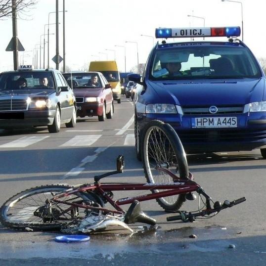 Rowerzysta trafił do szpitala