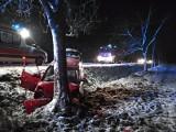 Wypadek koło Czaplinka. Autem w drzewo [ZDJĘCIA]