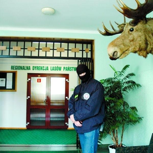 We wtorek agenci CBA pilnowali wejścia do Regionalnej Dyrekcji Lasów Państwowych. W tym samym czasie ich koledzy przeszukiwali gabinety dyrektorów