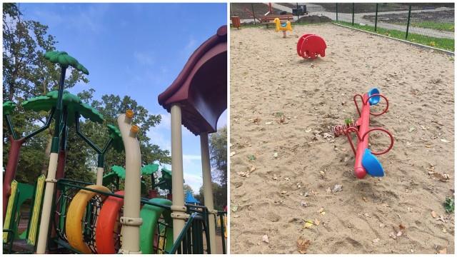 Tym razem zniszczono urządzenia na placu zabaw przy ul. Orzeszkowej