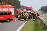Groźny wypadek na autostradzie A4 pod Opolem. Dwie osoby ranne, dwie nie żyją