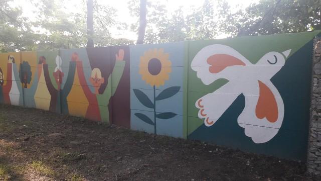 Konkurs oświęcimskiego magistratu na pokojowy mural w Parku Pokoju, wygrała Anna Wardęga-Czaja.