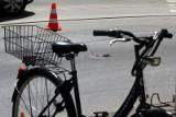 Potrącenie rowerzysty pod Wrocławiem. Trafił do szpitala
