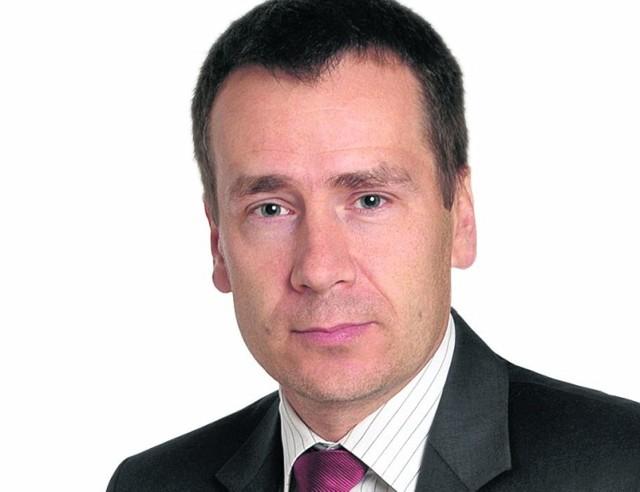 Burmistrz Białobrzegów Adam Bolek.