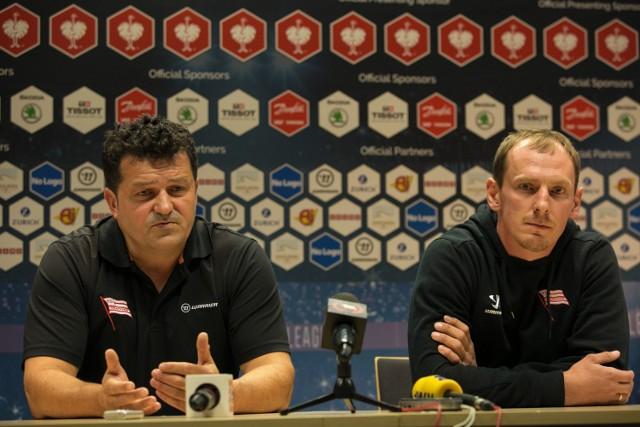 Na przedmeczowej konferencji prasowej pojawił się Rudolf Rohaczek i Patryk Noworyta