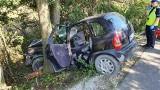 Wypadek w Przeczy koło Lewina Brzeskiego. Dwie osoby z obrażeniami trafiły do szpitala