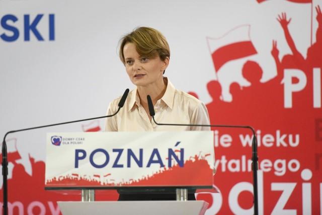 Jadwiga Emilewicz w ubiegłorocznych wyborach parlamentarnych zdobyła mandat posła w Poznaniu.