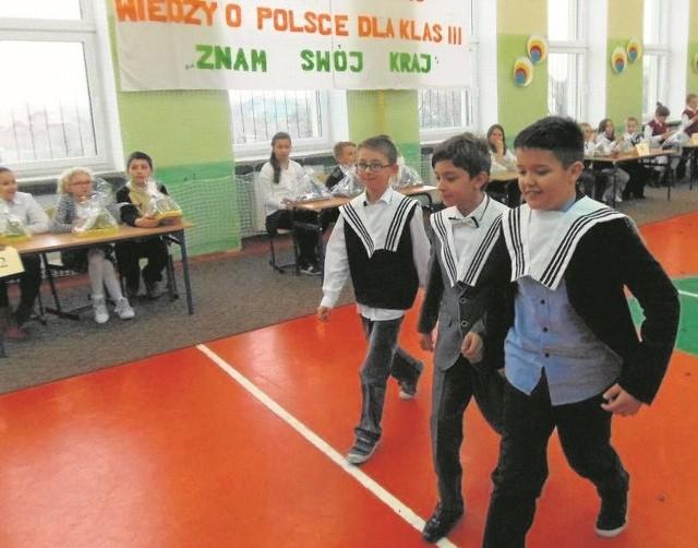 Zadania w konkursie były bardzo urozmaicone. Do SP3 przyjechali reprezentanci aż 13 szkół z całego powiatu sławieńskiego.