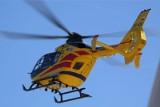 Śmigłowiec LPR musiał zabrać do szpitala motocyklistę po wypadku w Lęborku 23.08.2020 r.