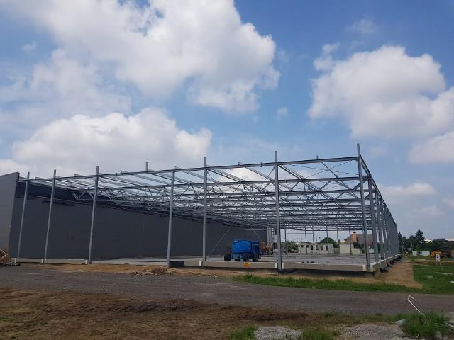 W Radomiu trwa rozbudowa zakładu produkcyjnego firmy TS Aluminium na Żakowicach. Jak informuje wykonawca, radomska firma Łucz-Bud - przebiega bardzo sprawnie. Wykonawca jest w trakcie kończenia montażu konstrukcji stalowej hali. Kolejnymi krokami są montaż blachy dachowej wraz z pokryciem oraz montaż płyt warstwowych na ścianach. TS Aluminium to firma produkująca aluminiowe konstrukcje, od 11 lat prowadzi produkcję przy ulicy Stanikowskiego w Radomiu. Firma szynko się rozwija, zatrudnia nowych pracowników. W 2020 postanowiono dobudować kolejną halę, w tym roku ruszyła budowa, która zakończy się za parę miesięcy. Firma zapowiada, że wraz z uruchomieniem nowej hali zwiększy zatrudnienie o 15 osób. Zapowiada też dalszy rozwój. Na kolejnych slajdach zobaczcie jak 19 lipca wyglądała budowa nowej hali firmy TS Aluminium przy Stanikowskiego w Radomiu