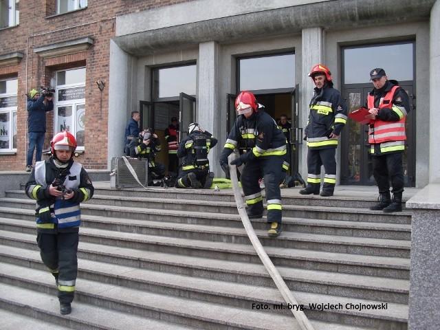 Strażacy z Mysłowic ćwiczyli swoje umiejętności w KWK Mysłowice - Wesoła