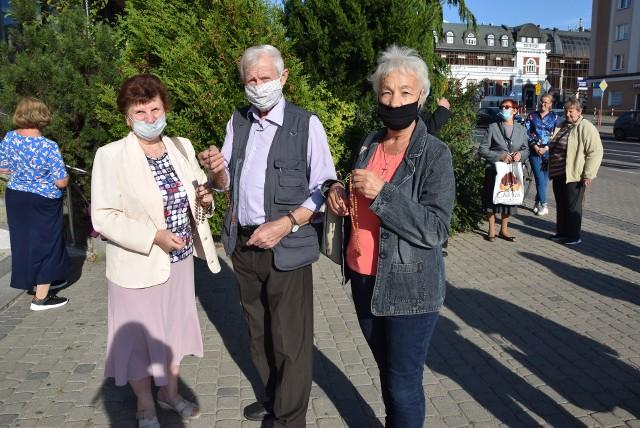 Mieszkańcy modlili się m. in. u zbiegu ulicy Sienkiewicza z Jurowiecką