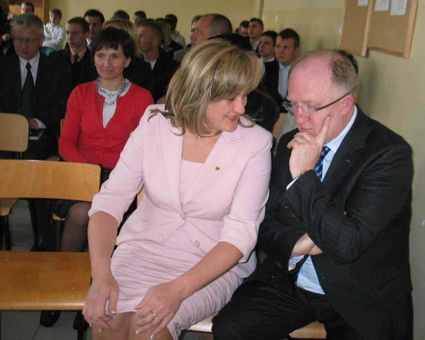 Prezesa Herberta Wirtha w Głogowie witała starosta Anna Brok
