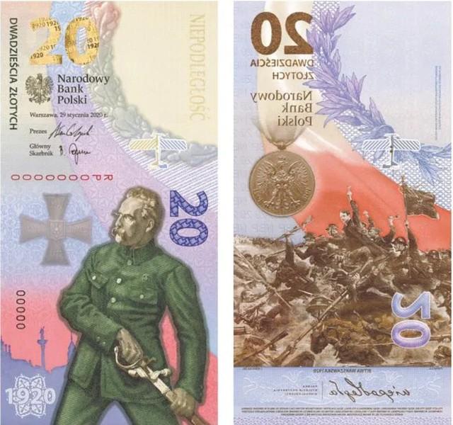 Pionowy banknot 20 zł Bitwa Warszawska 1920 podbił serca kolekcjonerów. Zobacz, jak wygląda