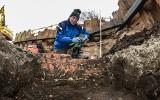 Pod Blankami 63 w Bydgoszczy wyszedł mur obronny