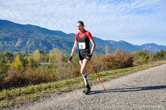 Elżbieta Wojciechowska na trasie maratonu w austriackim Ferlach