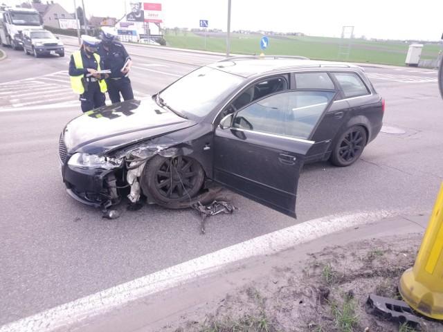 Zderzenie trzech samochodów na obwodnicy północnej Opola.