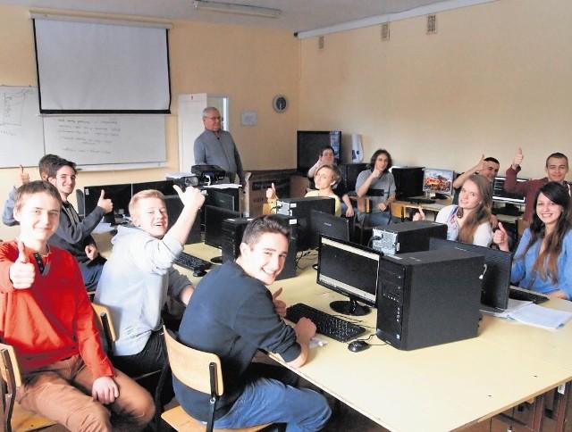 Uczniowie III klasy Technikum Ekonomicznego w Zakopanem