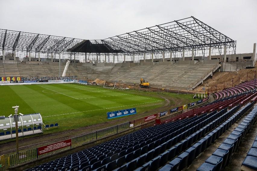 Budowa stadionu Pogoni Szczecin - 6 marca 2020 r.