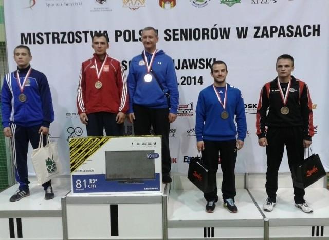 Od prawej Łukasz Stelmaszak