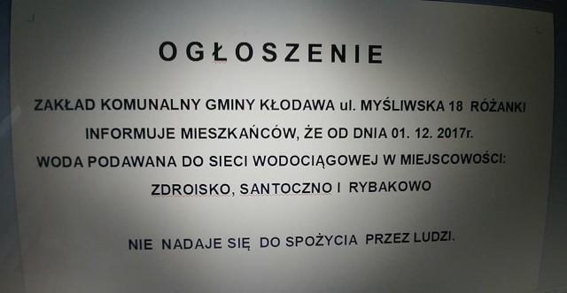 Oficjalny komunikat władz Kłodawy